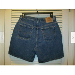 Vintage Levi's Denim Blue Jean Shorts Size 16